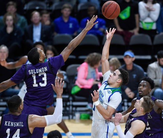 Texas A&M-Corpus Christi faces Stephen F. Austin in a basketball game, Wednesday, Feb. 12, 2020, at the American Bank Center.