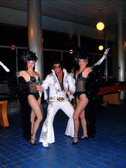 Elvis impersonator Keith 'King' Gipson will officiate at Adelphia Restaurant's giant wedding on Valentine's Day.