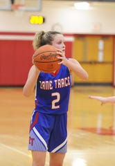 Zane Trace's Lauren Lane looks to pass during a 47-27 loss to Southeastern in a D-III sectional semifinal 47-27 on Wednesday, Feb. 12, 2020 at Jackson High School.