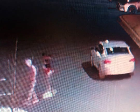The silver Impala used in three Clarksville armed robberies on Feb. 11, 2020.