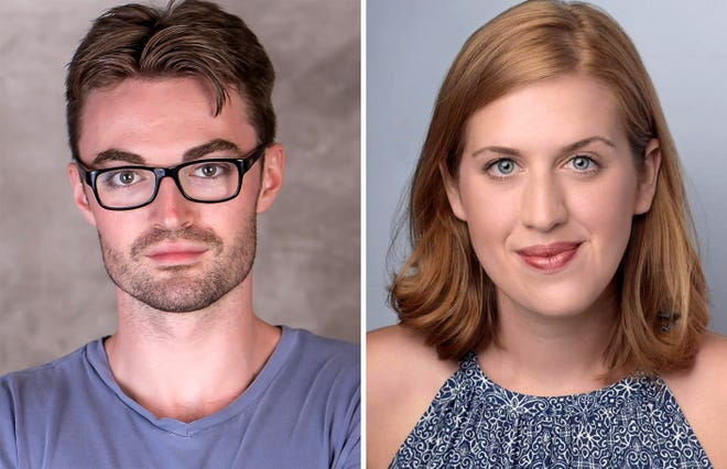 "Ian Alexander Erbe and Emma Jordan star in ""Dancing Lessons"" in the Roxy Regional Theatre's theotherspace, Feb. 17 -25."