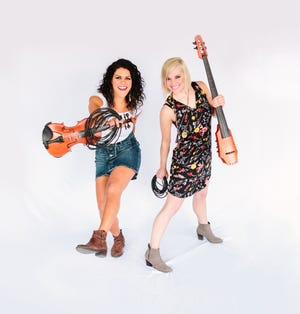 Moxie Strings, comprised of Diana Ladio and Alison Lynn, will perform Feb. 29 at the Performing Arts Center at Kent State Tuscarawas.