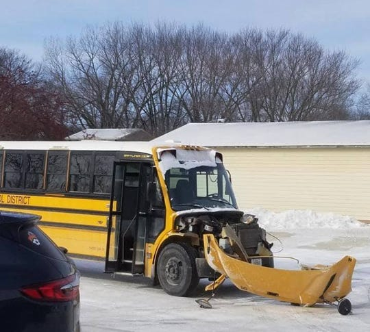 The scene of a crash Feb. 13 involving a Carlisle school bus.