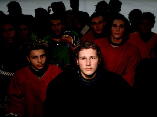 Joey Cormier and his Trenton hockey teammates Feb. 11, 2020.