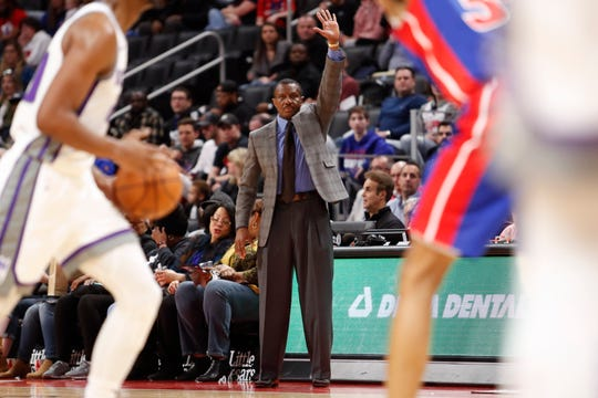 Dwane Casey during the game against Sacramento at LCA, Jan. 22, 2020.