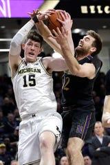 Michigan center Jon Teske.