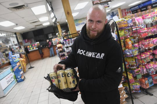 "Jason Brown of Pontiac can only drink his day away on Thursday after his mother asked him to buy a powerball ticket yesterday at Huron Liquor Plaza in Pontiac where the $70 million Powerball ticket was sold. ""I would have bought everyone in Pontiac a new car,"" he said, wishing he would have listened to his mother."