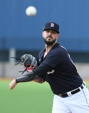 Tigers pitcher Nick Ramirez compiled a 4.07 ERA in 79.2 innings of relief last season.