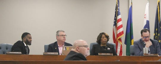 Some members of the South Bend Common Council have endorsed former Mayor Pete Buttigieg for president while others haven't. At left in the photo is Henry Davis, a councilman who has criticized Buttigieg. At right is Tim Scott, council president, who is backing Buttigieg.