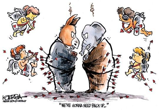 Cupids need backup for GOP, Democrats.