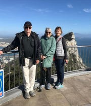 Richard, Diane and Patricia Happy during a family vacation in Spain in March, 2019, the same month she was adopted at age 63.