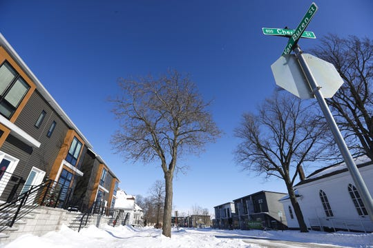 Scenes of the Whitney Park Townhomes on Thursday, Feb. 13, 2020, located on the 800 block of Cherry Street and North Van Buren Street in Green Bay, Wis. Ebony Cox/USA TODAY NETWORK-Wisconsin