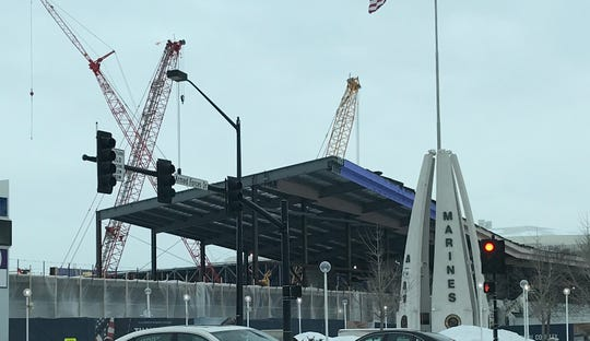 Brown County's new expo center takes shape in Ashwaubenon on Feb. 13, 2020.