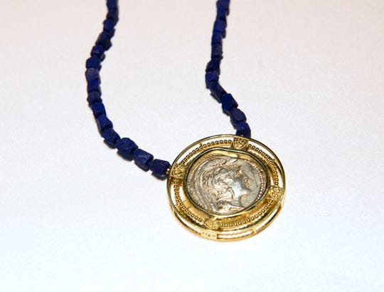 A necklace made by Llyn Strong
