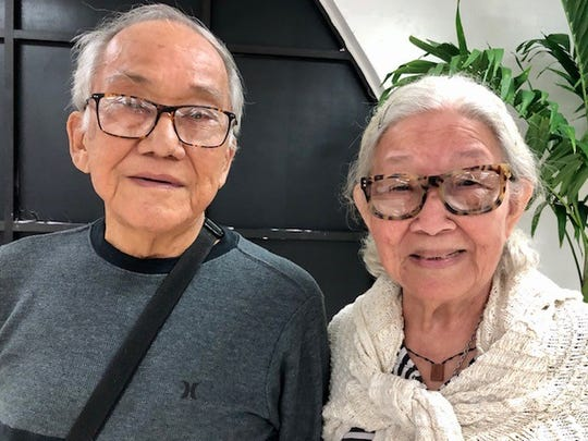 World War II survivors David C. Cruz, 76, and his wife Juanita M. Cruz, 78, were among those who received, on Feb. 13, reparations checks under a $14 million GovGuam program to advance the payment of war claims to still-living war survivors.
