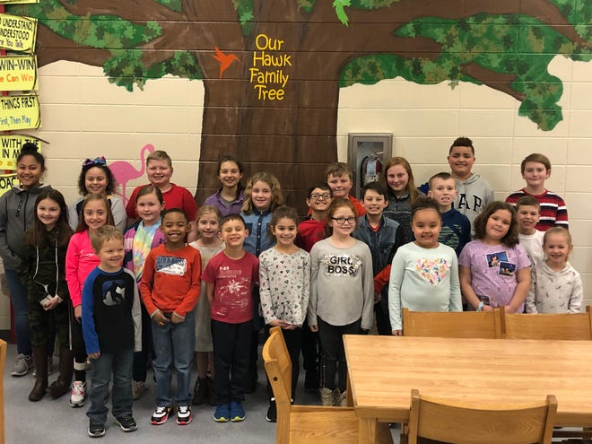 The East Heights Leaders of the Month for January 2020 are, first row, from left: Tyson Bradley, Jermayne Starks, Lincoln Duff, SaMariyah Hall, Linda O'Bannon, Kenzley Thomas, Ellie Chaney and Sophia Smith. Second Row, from left: Brylee Overton, Abbi Kate Tyler, Karlee Nelson, Lydia Valentine, Reagan Potts, Ike Lewis, Brody Carlisle, Maddox Whitledge and JP Farmer. Third Row, from left: De'Ondria Hall, Jerzee Scisney, Landon Barnett, Addalie Zehner, Jeramia Spurlin, Kylie Frasier, Landon Laine and Emmett Dodson.