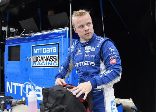 Felix Rosenqvist earned multiple podium finishes in his rookie IndyCar season.