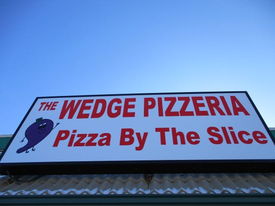 A sign has already gone up at 521 Highway 1 W. for The Wedge Pizzeria, pictured on Feb. 13, 2020, though it probably won't open until sometime in the coming spring.