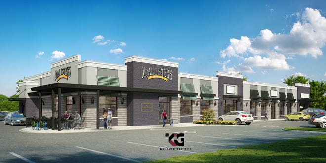A rendering of the new McAlister's Deli in the old MCL Restaurant and Bakery, 521 Sagamore Parkway in West Lafayette.