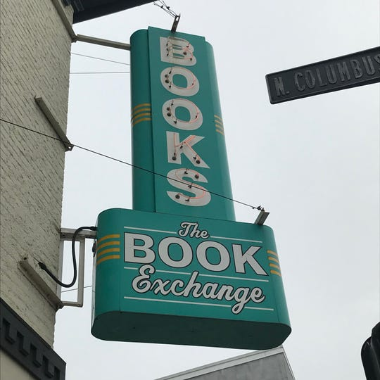 The sign adorning the front of the Paperback Exchange at Main and Columbus streets dates back to the 1940s. Owner Leanne McClellan bought the sign from a North Carolina bookstore that went out of business.
