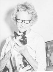 Ruth West with her cat, Tomm.