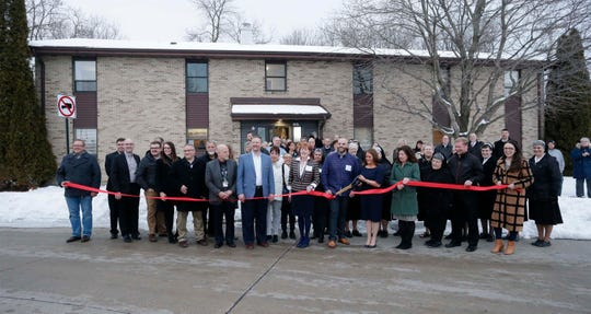The ribbon cutting of the new CORE Treatment Services, Inc., new Alcohol and Other Drugs of Abuse (AODA) facility near Holy Family Memorial, Wednesday, February 12, 2020, in Manitowoc, Wis.