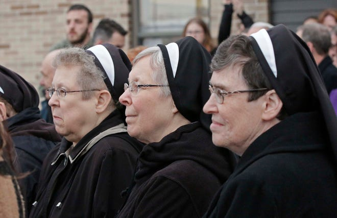 Eight women from the Manitowoc Franciscan Sisters of Christian Charity have died while testing positive with COVID-19 since Oct. 14. Photo from February 12.