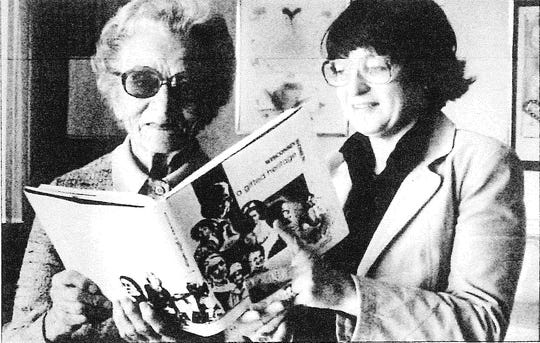 Ruth West and Dolly Stokes in 1982.