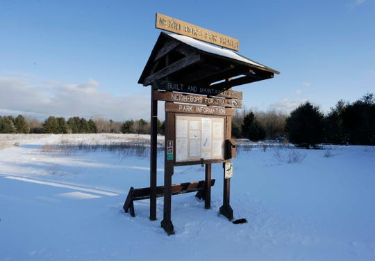 Kohler Company golf course plans could alter the current trail near the land of the proposed golf course, Thursday, February 13, 2020, in Kohler, Wis.