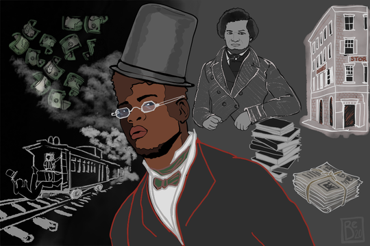 David Ruggles was America's first full-time black activist. He was a primary conductor on the Underground Railroad and helped a young Frederick Douglass (pictured at the right of this illustration) after Douglass escaped slavery.