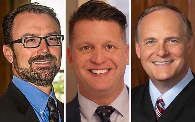 Zach Whitney, left, Brett Blomme, center, and Paul Dedinsky, right.