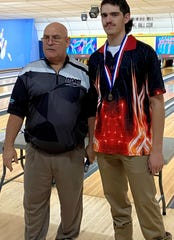 Norfork's Ty Rosson (right) finished as the 2A/1A State bowling silver medalist on Wednesday.