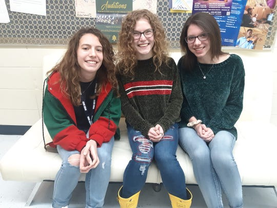 Three Mountain Home High School singers have been selected to the All-State Choir. These students will travel to Hot Springs on Feb. 19 to attend the All-State Clinic. Those students include (from left) Emma Scott, soprano; Grace Beckham, alto; and Ella McCurley, alto.