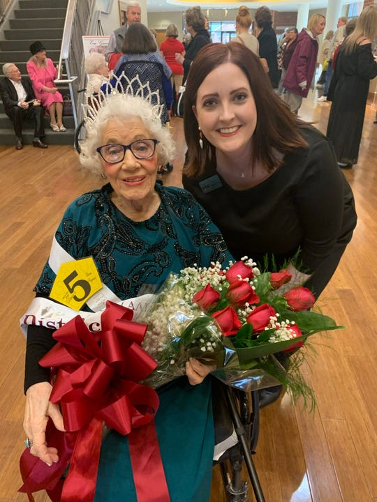 District 4 Queen Ina Young, pictured with Cat Hamilton, director of member services at Arkansas Health Care Association.
