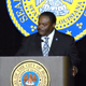 Monroe Mayor Jamie Mayo speaks at the 2020 State of the City event.