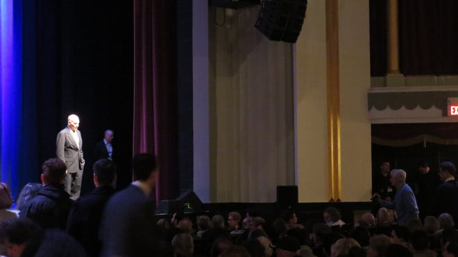Gen. John Kelly, former chief of staff to President Donald Trump, takes questions from the audience during a speaking engagement at the Mayor Performing Arts Center in Morristown. Feb. 12, 2020