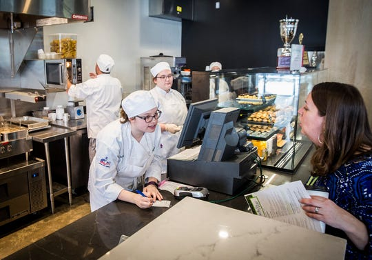 Chesterfield's Cafe, housed in Ivy Tech's new George and Frances Ball Building downtown, held its grand opening Thursday morning. Chesterfield's offers breakfast and lunch items and is open to the public.