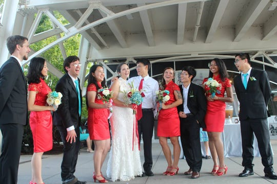 Scenes from the wedding of Shane and Taffy Xu, who manged to pull off three marriage ceremonies on two continents in one year.