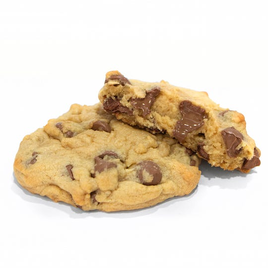 Utah-based Crumbl Cookies is known for their thick version of chocolate chip, served warm, and available for delivery.