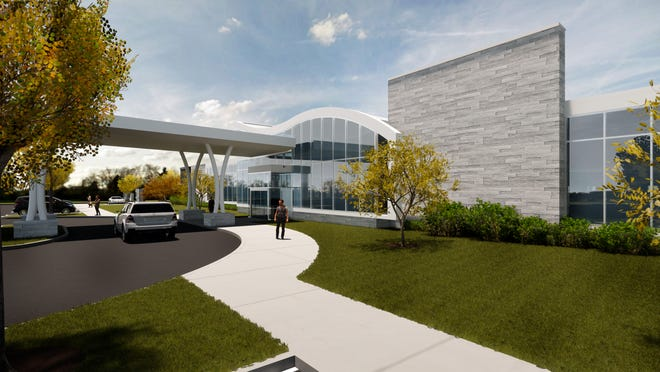A rendering shows the 31,000-square-foot Vanderbilt University Medical Center facility to be built in Hendersonville.