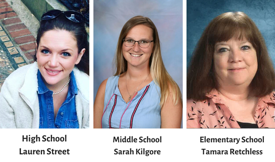 The Cheatham County School District named three 2019-2020 District Wide Teachers of the Year on Thursday, Feb. 13.
