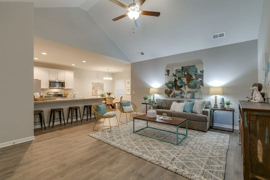 Homes in DerryBerry Estates have open interiors. Master baths have soaking tubs and separate showers.