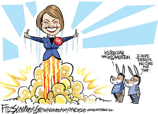 Amy Klobuchar rockets in N.H.