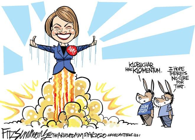 Amy Klobuchar rockets in N.H.