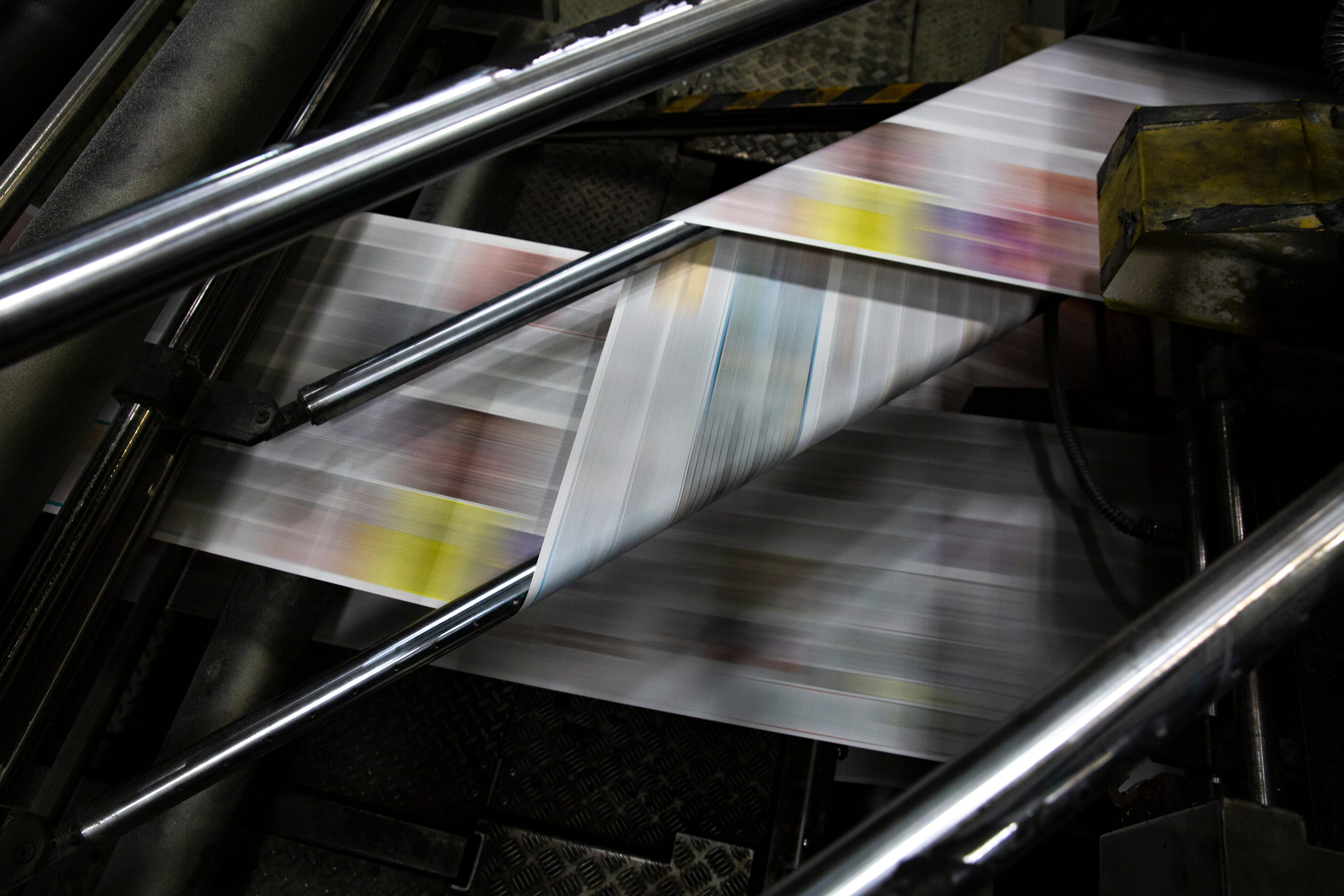 The newspaper is printed during a press run on Wednesday, Feb. 12, 2020, at the Naples Daily News.