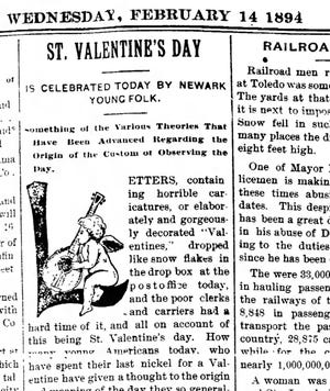 A portion of the Feb. 14, 194 Newark Advocate.