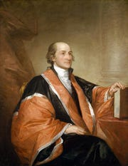John Jay, as Chief Justice of the United States, painted by Gilbert Stuart in 1794.