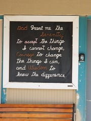 """The Serenity Prayer"" greets people to Carlsbad's Alano Club. A ten year lease between the Club and the Carlsbad City Council was approved Feb. 11 by the Carlsbad City Council."