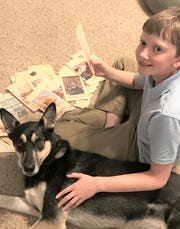 Logan Gray, 11, studies his school lessons diligently each day. He hopes to attend the 2020 National Memory Master competition.