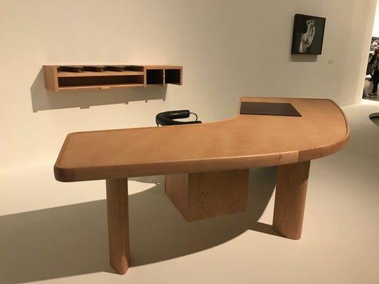 "Charlotte Perriand's ""Boomerang desk,"" seen here at the Fondation Louis Vuitton in January 2020."